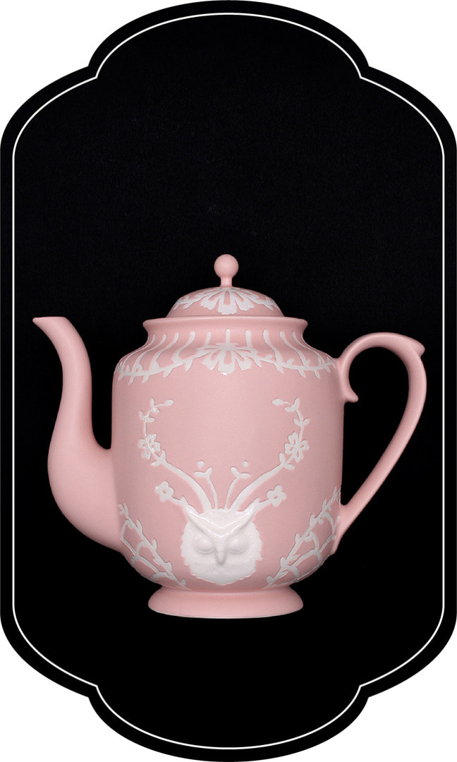 Cafe room No.1508 owl Teapot_RosePastel