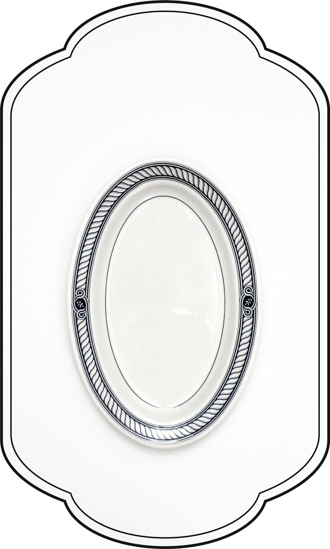 Ensemble Oval plate