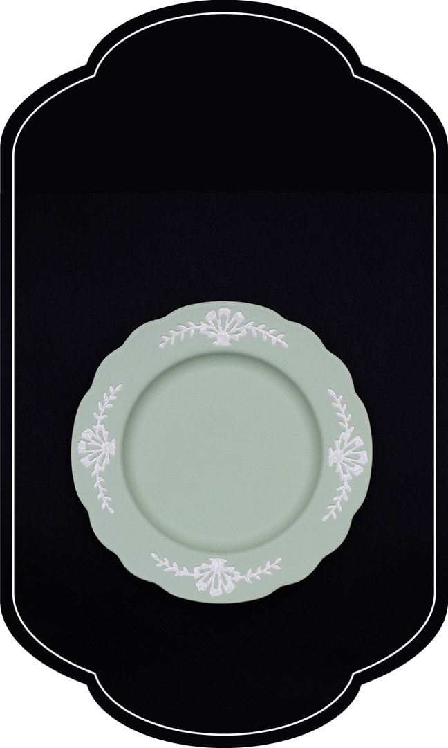 Cafe room No.1508 Plate_GreenPastel