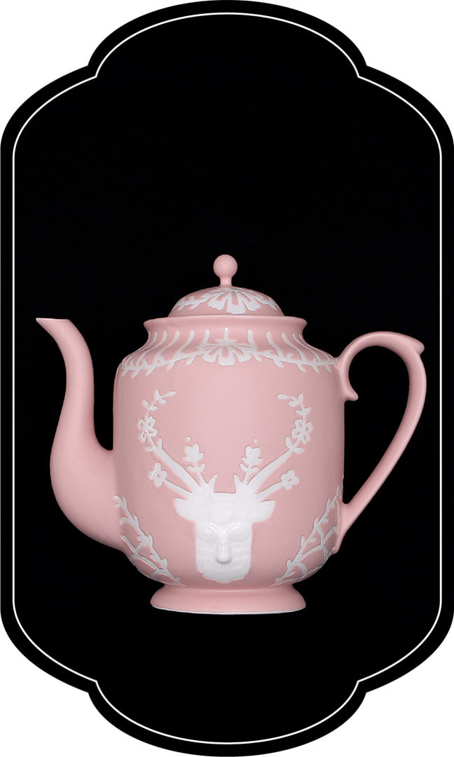 Cafe room No.1508 deer Teapot_RosePastel