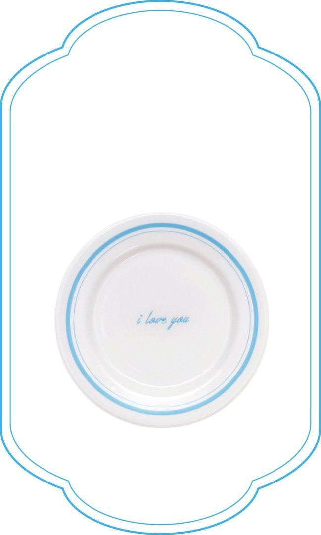 I Love You Plate_blue