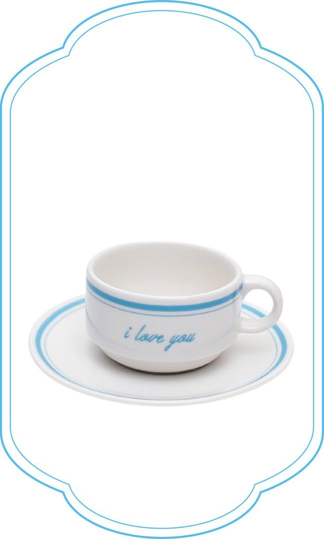 I Love You Tea set_blue